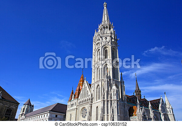 Church at Buda Castle in Budapest, Hungary - csp10633152