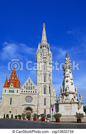 Church at Buda Castle in Budapest, Hungary - csp10633154
