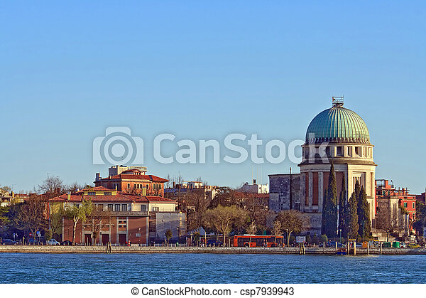 Church at Grand canel in Venice, Italy - csp7939943