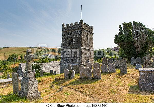 Church at Talland Bay Cornwall - csp15372460