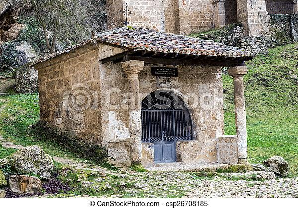church at the side of the road, Tobera, Burgos - csp26708185