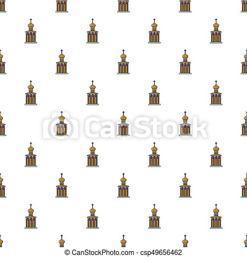 Church building pattern seamless - csp49656462