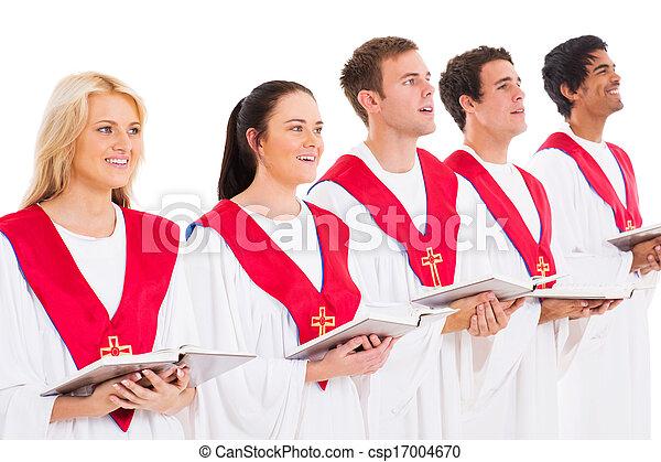 church choir singing  - csp17004670