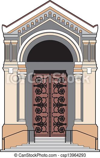 Church Door Vector Illustration Of A Church Door