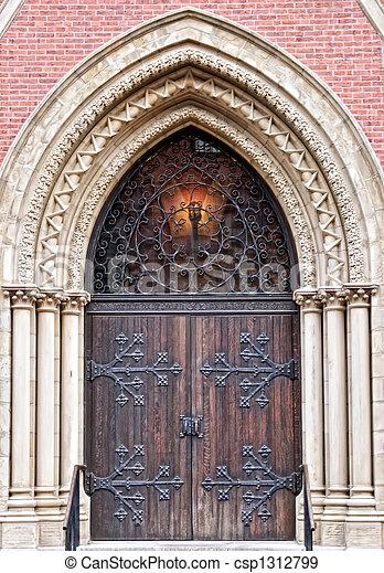 church door - csp1312799