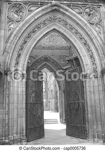 Church Entrance II - csp0005736