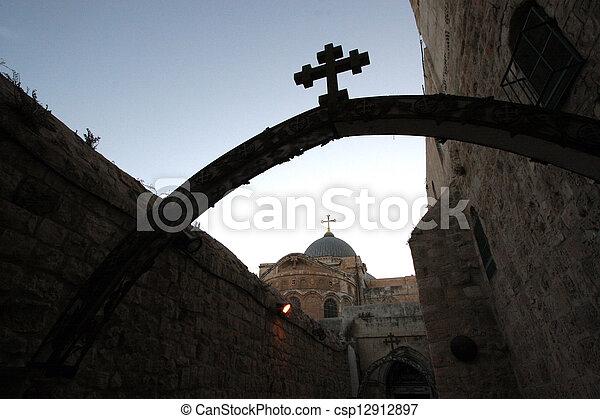 Church Holy Sepulchre, Jerusalem - csp12912897