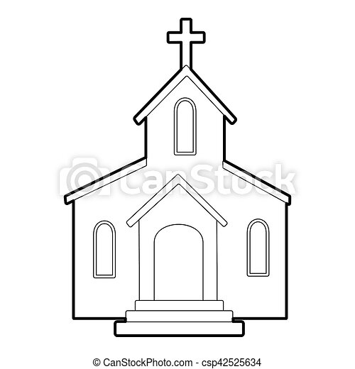 Church icon outline style csp42525634