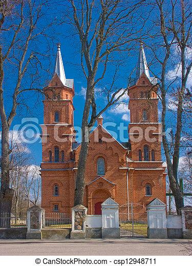 Church in Dusetos - csp12948711