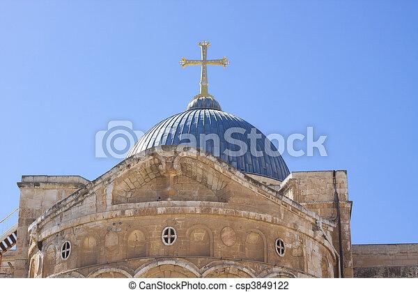 church in jerusalem - csp3849122
