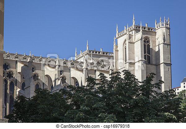 Church in Lyon, France - csp16979318