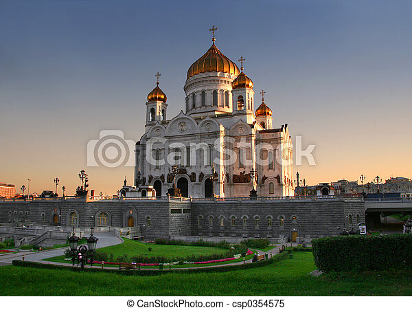 Church in Moscow - csp0354575