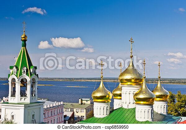 Church in Nizhny Novgorod, Russia - csp6859950