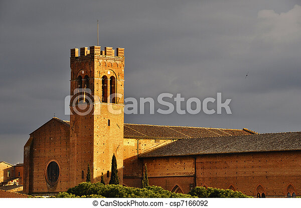 Church in Siena, Italy - csp7166092