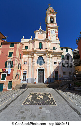 church in Sori, Italy - csp10649451