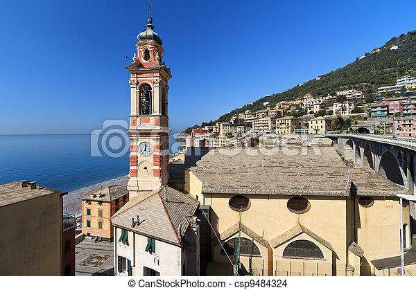 church in Sori, Italy - csp9484324