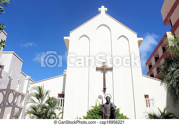 Church in St. Maarten, Netherlands  - csp18956221