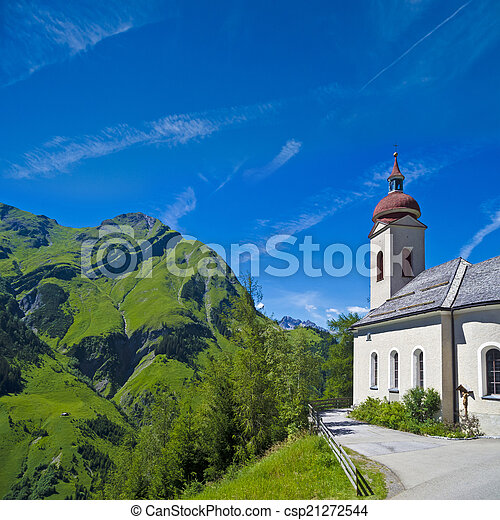 church in the alps - csp21272544