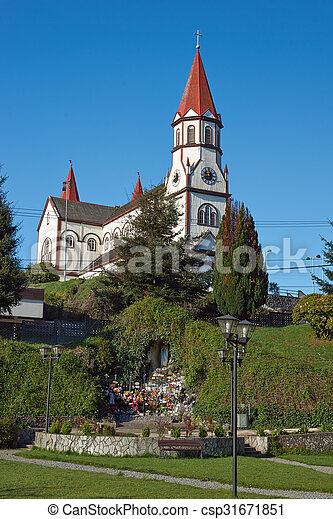 Church in the Chilean Lake District - csp31671851
