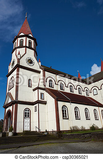 Church in the Chilean Lake District - csp30365021