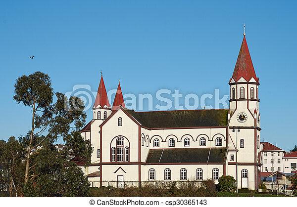 Church in the Chilean Lake District - csp30365143