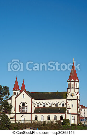 Church in the Chilean Lake District - csp30365146