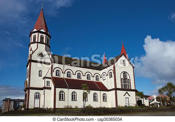 Church in the Chilean Lake District - csp30365034