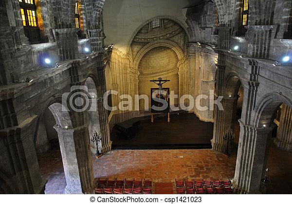 Church interior in Old havana - csp1421023