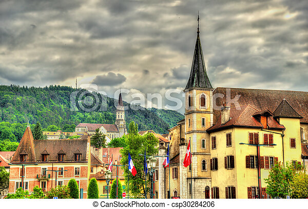 Church of St Francois de Sales and Basilica of the Visitation in Annecy - France - csp30284206