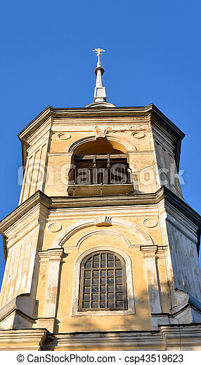Church of St. John the Baptist in Roschene. - csp43519623