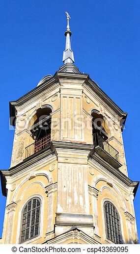 Church of St. John the Baptist in Roschene. - csp43369095