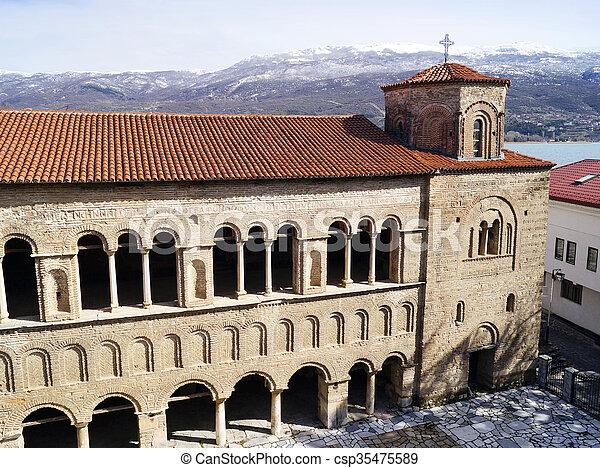 Church of St. Sophia in Ohrid  - csp35475589