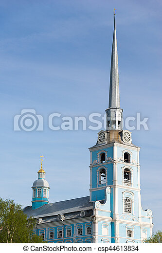Church of the Holy apostles Peter and Paul in Yaroslavl, Russia. - csp44613834