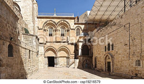 Church of the Holy Sepulchre in Jerusalem - csp19216579