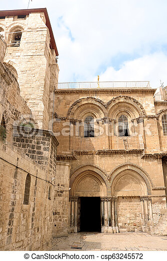 Church of the Holy Sepulchre in Jerusalem, Israel - csp63245572