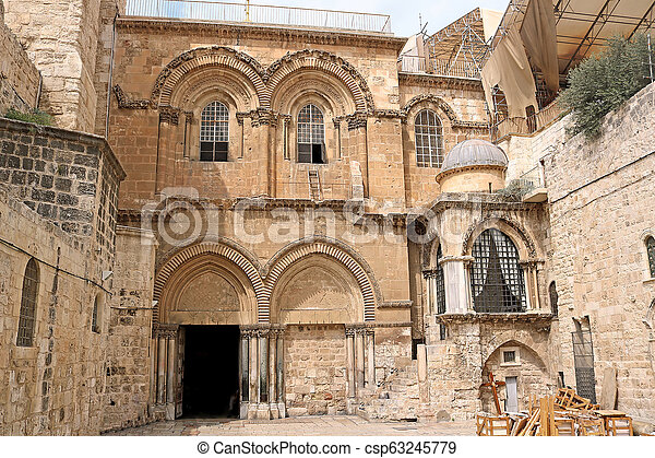 Church of the Holy Sepulchre in Jerusalem, Israel - csp63245779