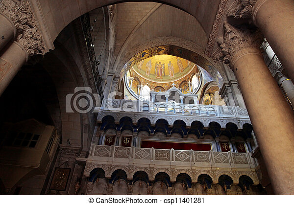 Church of the Holy Sepulchre in Jerusalem, Israel - csp11401281