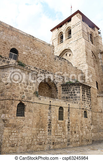 Church of the Holy Sepulchre in Jerusalem, Israel - csp63245984