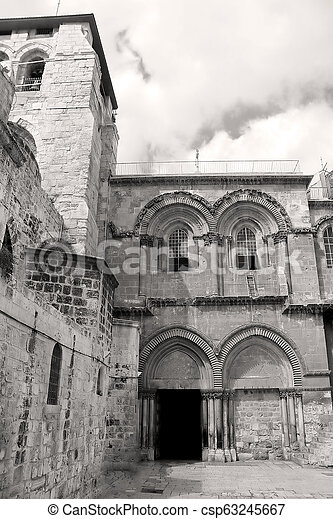 Church of the Holy Sepulchre in Jerusalem, Israel - csp63245667