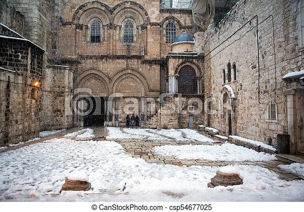 Church of the holy sepulchre in Jerusalem - csp54677025