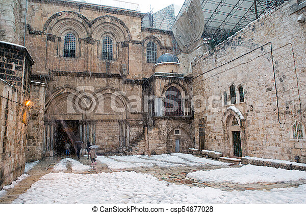 Church of the holy sepulchre in Jerusalem - csp54677028
