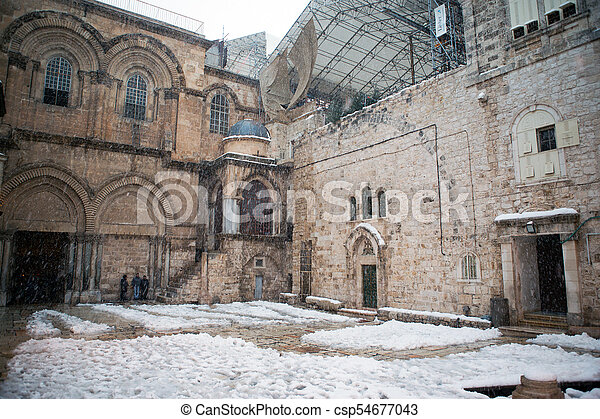 Church of the holy sepulchre in Jerusalem - csp54677043