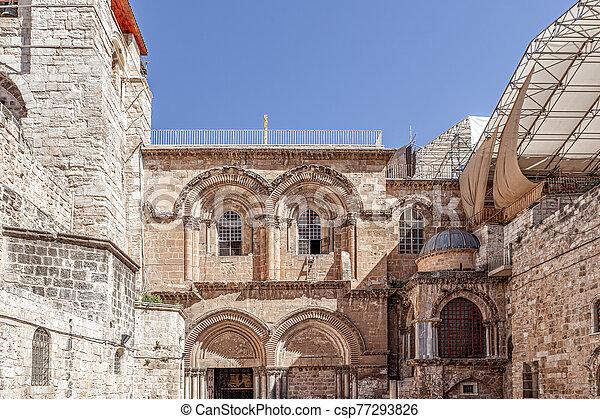 Church of the Holy Sepulchre in Jerusalem - csp77293826