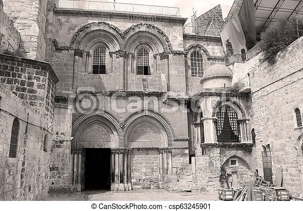 Church of the Holy Sepulchre in Jerusalem, Israel - csp63245901