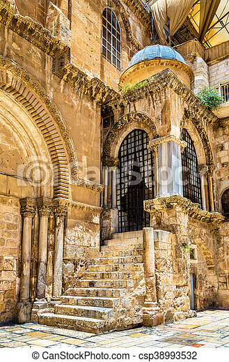 Church of the Holy Sepulchre in Jerusalem - csp38993532