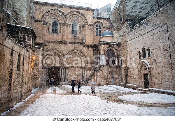 Church of the holy sepulchre in Jerusalem - csp54677031