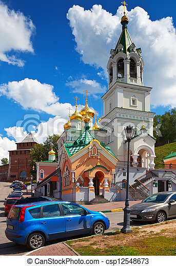 Church of the Nativity John the Baptist at Nizhny Novgorod - csp12548673