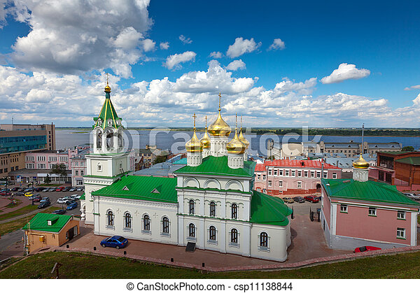 Church of the Nativity John the Baptist at Nizhny Novgorod - csp11138844
