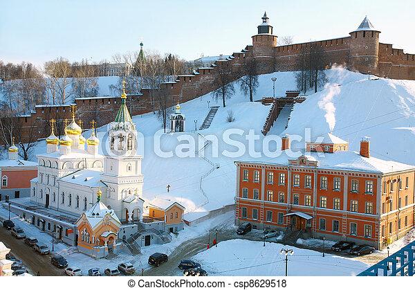 Church of the Nativity of St. John the Baptist at Kremlin Nizhny Novgorod - csp8629518