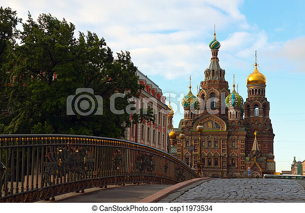 Church of the Savior on Blood in summer  - csp11973534